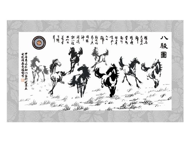 切片印刷和雕刻12-5马(玻璃制品印刷图)